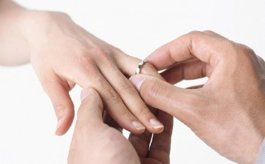 anillos de boda oro blanco