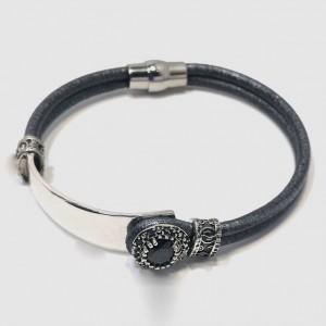 pulsera-plata-y-cuero-gris-top-silver-cierre-iman